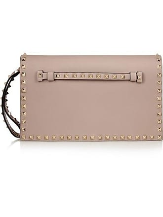 Valentino Valentino Garavani The Rockstud Leather Clutch - Neutral