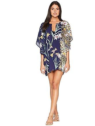 c8a59af328 Trina Turk Fiji Floral Mix Caftan Cover-Up (Midnight) Womens Swimwear