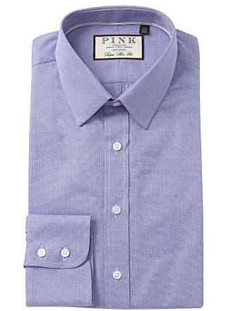 531a8c3e Thomas Pink Eno Textured Solid Super Slim Fit Dress Shirt