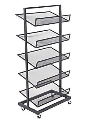 UMA Enterprises Inc. Deco 79 58642 File Rack, Black/Gray