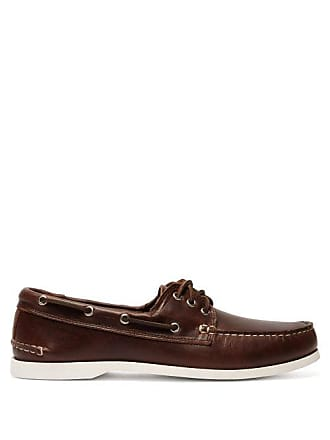 Quoddy Downeast Leather Deck Shoes - Mens - Brown