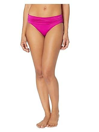 bf43fa9b76 Ralph Lauren Beach Club Solids Wide Shirred Banded Hipster Bottom  (Plumeria) Womens Swimwear