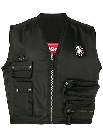 032c cropped vest - Black