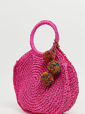 5d48dc906a0 Aldo Yireng bright pink circle tote bag with tassel detail