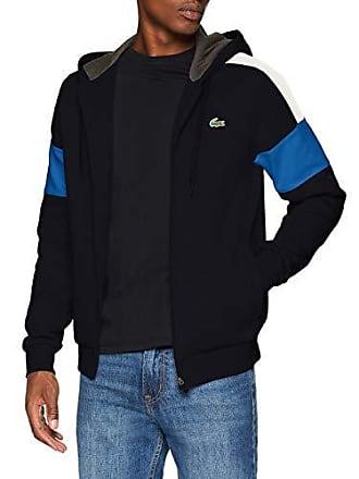 7a4bf7f20e Lacoste Sport SH9492 Sweat-Shirt Homme Bleu (Marine/Blanc-Royale-Bitume