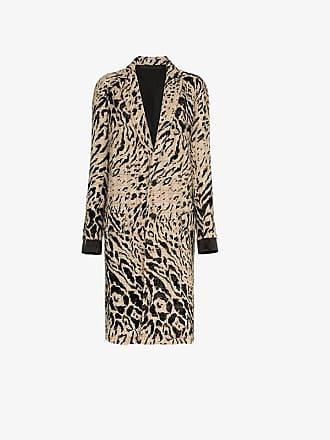 Haider Ackermann animal print wool coat
