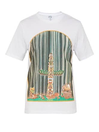 Loewe Window Totem Cotton Jersey T Shirt - Mens - White