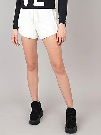 Basics Short Feminino Running Básico em Moletom Off White