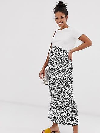 32e0e571c9 Asos Maternity ASOS DESIGN Maternity jersey midi slip skirt in mono floral  print