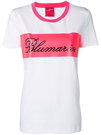 Blumarine Camiseta com estampa de logo - Branco