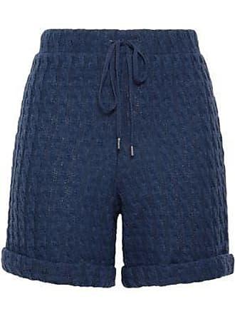 Cosabella Cosabella Woman Cable-knit Cotton-blend Shorts Cobalt Blue Size L