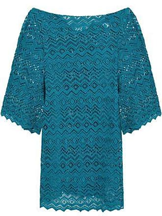 Eberjey Eberjey Woman Desert Star Raven Crocheted Cotton Coverup Teal Size S/M