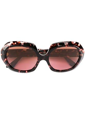 Emmanuelle Khanh round oversized sunglasses - Marrom