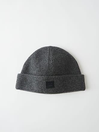 0780af24db82d1 Acne Studios FA-UX-HATS000026 Dark grey melange Wool beanie