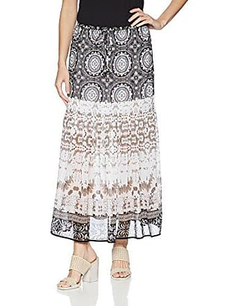 Tribal Womens Pull On Maxi Skirt with Tassel, Stone, M
