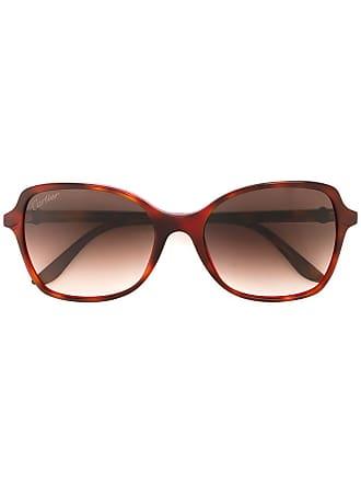 b700e1e60b9 Cartier Óculos de sol Double C Decor - Marrom