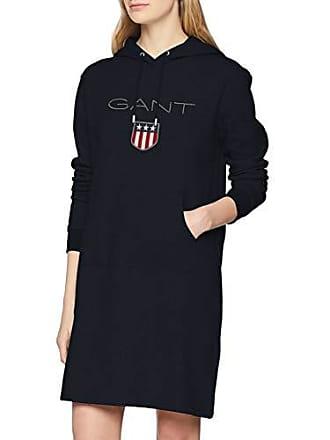 5613a1f56a GANT O1 Shield Hoddie Dress Vestito, Blu (Evening Blue 433), X-