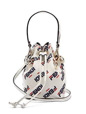 b65b196244e39 Fendi Mania Mon Tresor Mini Leather Bucket Bag - Womens - White Multi