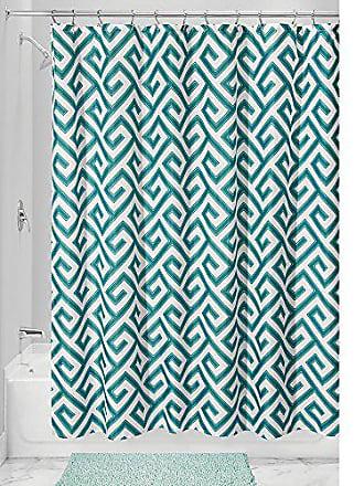 InterDesign Athena Shower Curtain, Teal