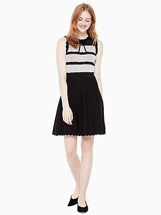 Kate Spade New York Lace Jacquard Sweater Dress, Black - Size XL