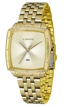 Lince Relógio Lince Feminino Ref: Lqg620l C1kx Retangular Dourado