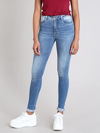 Sawary Calça Jeans Feminina Sawary Compressora Super Skinny Azul Médio