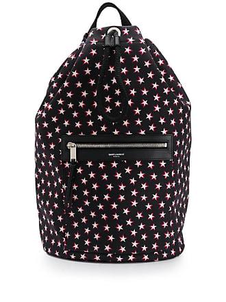 0b0267d4276 Saint Laurent one-shoulder star print backpack - Black