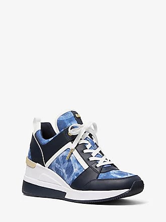 Michael Kors Georgie Tie-Dye Canvas And Leather Trainer