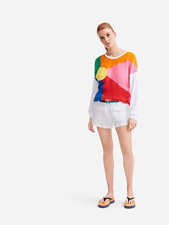 Vilebrequin Women Ready to Wear - Women linen bermuda shorts solid - Vilebrequin x JCC+ - Limited Edition - BERMUDA - CABRIS - White - XXS - Vilebrequin
