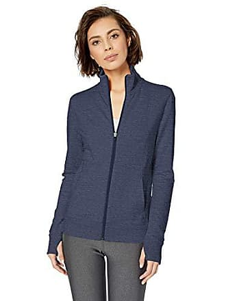 Amazon Essentials Womens Studio Terry Long-Sleeve Full-Zip Jacket, Navy Heather, M