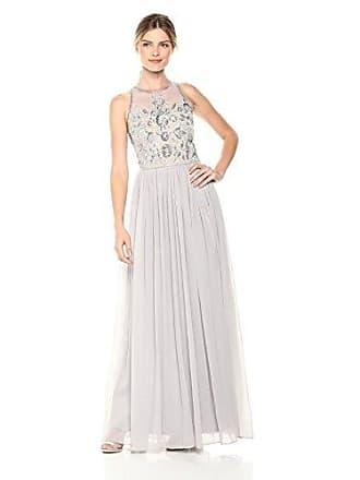 03be7505192 Adrianna Papell Womens Beaded Halter Illusion Bodice Long Chiffon Dress