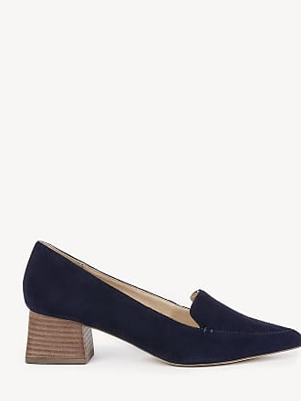 Sole Society Womens Mavis Flare Heels Loafers Ombre Blue Size 10 Suede From Sole Society