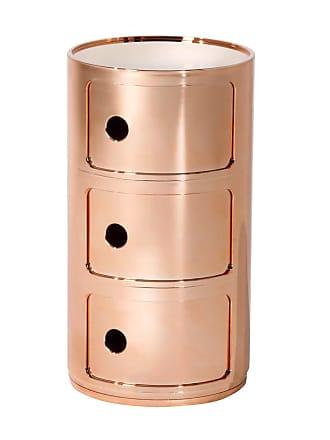 Kartell Componibili 3 Container - kupfer/glänzend/H 59cm/ Ø 32cm
