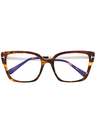 Tom Ford Eyewear classic wayfarer glasses - Brown