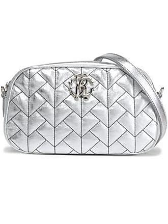 Roberto Cavalli Roberto Cavalli Woman Quilted Metallic Leather Shoulder Bag Silver Size