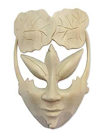 Novica 188685 Water Lily Princess Wood Mask