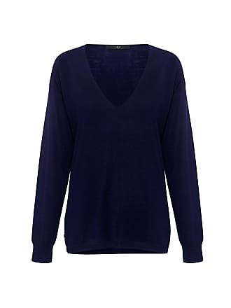 Tibi FEATHERWEIGHT CASHMERE V-NECK Sweater Spruce Navy 42911d976