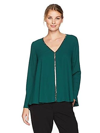 Karen Kane Womens Emerald Sparkle Flare Sleeve Top, M