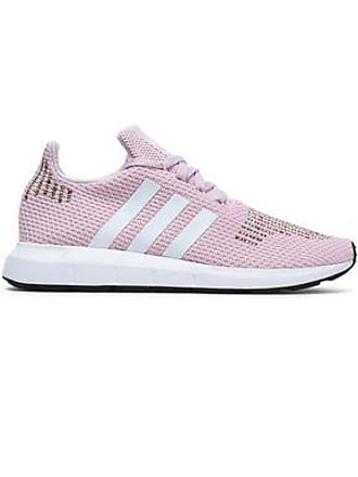 af050a05e73b71 adidas Adidas Originals Woman Embroidered Stretch-knit Sneakers Baby Pink  Size 7.5
