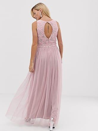 928ecc5ceea Little Mistress pleat skirt maxi dress - Pink