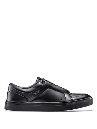 HUGO BOSS Hugo Boss Low-top sneakers in calf leather lace-up detail 8 Black