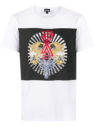 Just Cavalli Camiseta com animal print - Branco