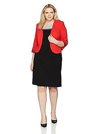9a88779cf0e275 Maya Brooke Womens Size 3 4 Sleeve Striped Yoke Jacket Dress Plus