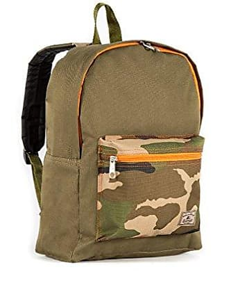 Everest Basic Color Block Backpack, Olive/Camo, One Size