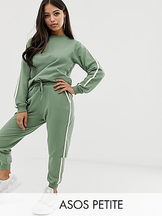 c9cafc55f49776 Asos Petite ASOS DESIGN Petite tracksuit cute sweat / basic jogger with tie  with contrast binding