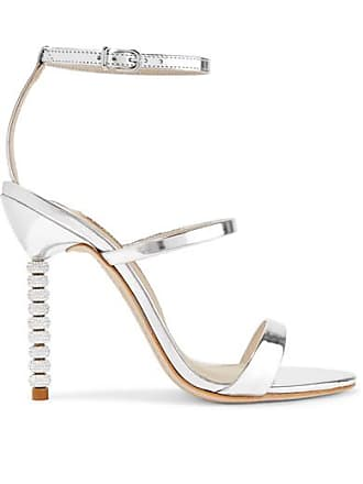 ad0ed9d969d Sophia Webster Rosalind Crystal-embellished Metallic Leather Sandals -  Silver