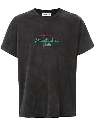 Ground-Zero Camiseta com bordado Substantial Void - Cinza