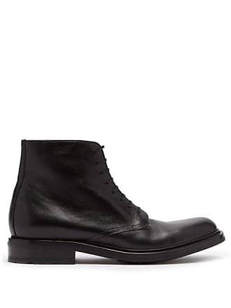 Saint Laurent Army Lace Up Leather Boots - Mens - Black