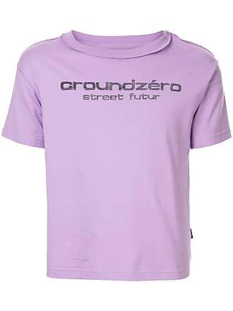 Ground-Zero logo print T-shirt - Roxo