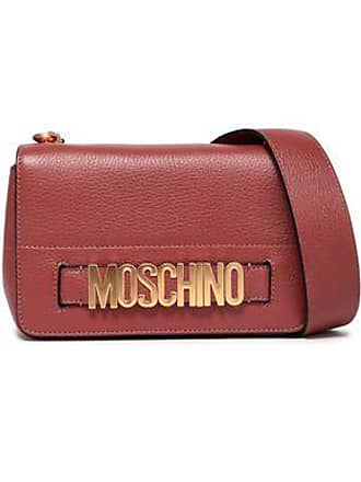 cb4289b4b6 Moschino Moschino Woman Textured-leather Shoulder Bag Antique Rose Size